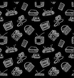 retro devices pattern vector image