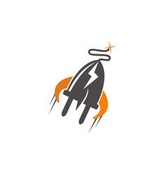 rocket electricity logo vector image