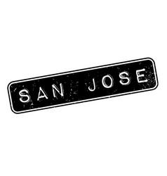 San jose rubber stamp vector