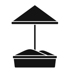 sand kid playground icon simple style vector image
