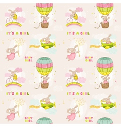 Seamless babunny background vector