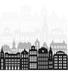 silhouettes european city vector image