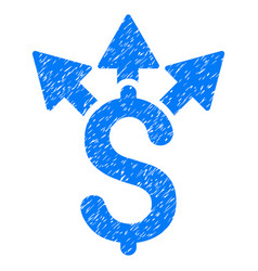 Split payment grunge icon vector