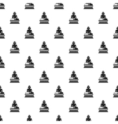 Statue of sitting buddha pattern simple style vector