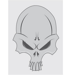 Stylized skull vector