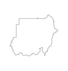 sudan map silhouette vector image