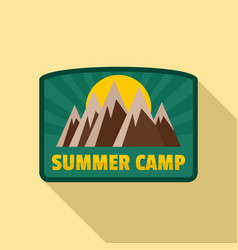 summer camp logo flat style vector image