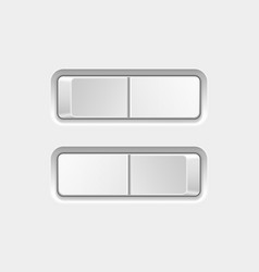 switch buttons on and off vector image