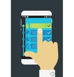 ToDo mobile app vector image