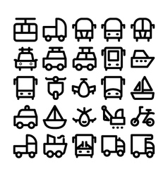 Transport Icons 8 vector