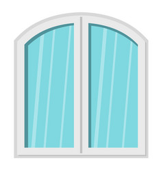 White window arched frame icon isolated vector