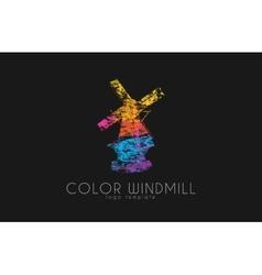 windmill logocolor logo design creative vector image