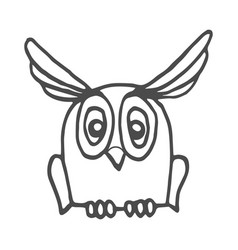 wisdom owl hand drawn outline doodle icon owl vector image