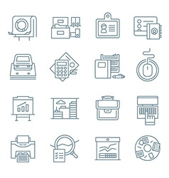 Office Life Icons Collection vector image