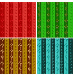 set from abstract seamless wallpaper in different vector image