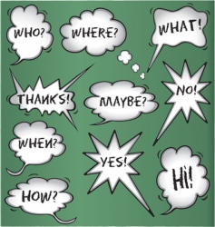 though and speech bubbles vector image