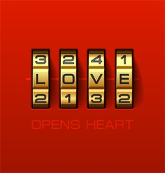 Love Opens Heart vector image