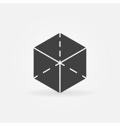 3d cube logo vector image vector image