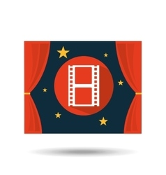 concept cinema theater film strip graphic design vector image
