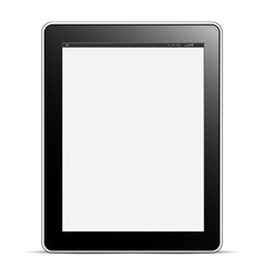 Digital tablet PC with blank screen isolated on vector image vector image