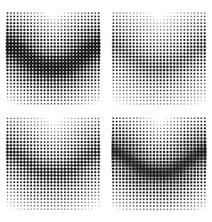 Halftone gradient effects vector image