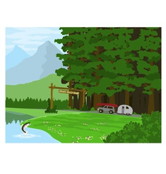 Hidden Valley Camp vector image