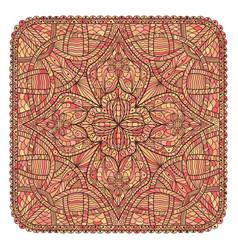 oriental flower background mandala like square vector image