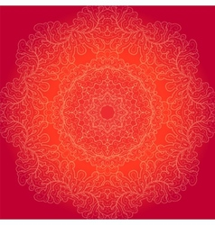 Round lace background vector image vector image