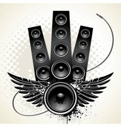wings speakers vector image vector image