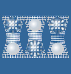 abstract blue background with silver metallic grid vector image vector image