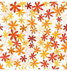 autumn floral pattern vector image vector image