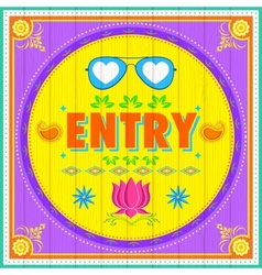 Entry Poster vector image vector image