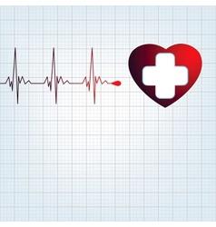 Heart medical cross EPS 8 vector image