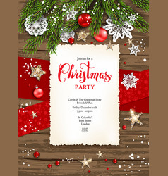 holiday winter card frame invitation vector image vector image