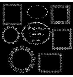 Set of circle polynesian tattoo styled frames vector image