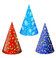 Set of hats for party vector image vector image