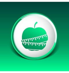 Slimming apple icon slim weight diet vector image vector image