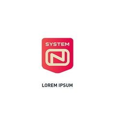 System On - logo design template icon or d vector image vector image