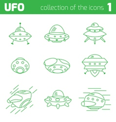 ufo alien ships icon part one vector image vector image