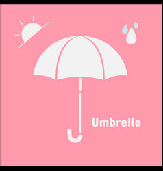 umbrella icon isolated on pink background umbrell vector image vector image