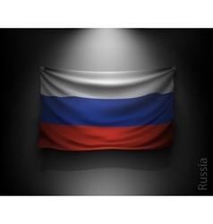 waving flag russia on a dark wall vector image