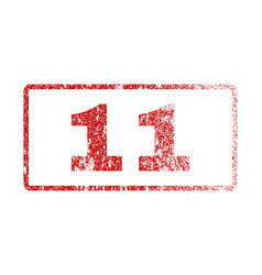 11 rubber stamp vector