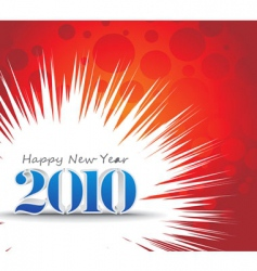 2010 new year background vector image