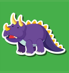 a triceratops sticker character vector image
