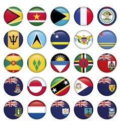 American Flags Soft Round Buttons vector