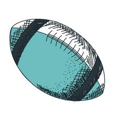 american football balloon icon vector image