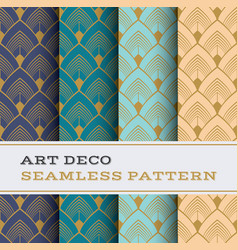 Art deco seamless pattern 32 vector
