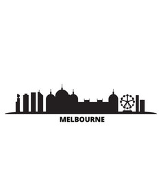 australia melbourne city city skyline isolated vector image