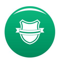 badge retro icon green vector image
