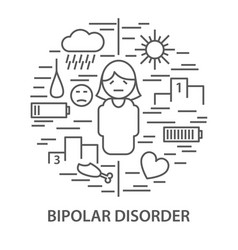 banners for bipolar disorder vector image